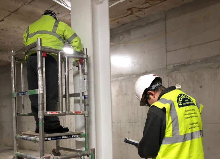 Robore firestopping operatives performing checks in London